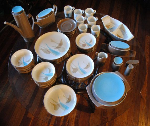 Vintage Red Wing Pompeii Dinnerware by DreamOfPuraVida on Etsy, $600.00
