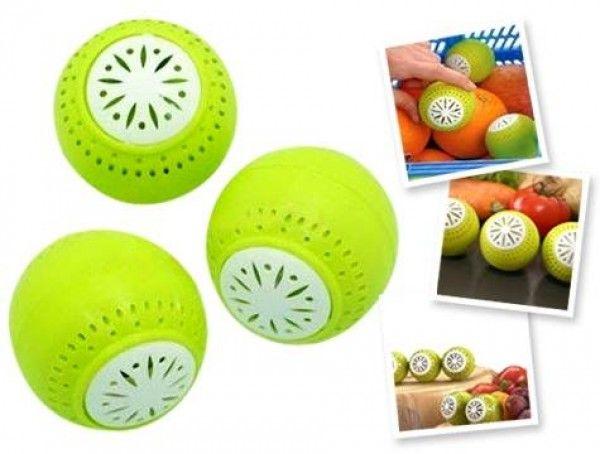 Fridge Balls Buzdolabı Koku Giderici ve Tazeleyici (3 Adet) http://bit.ly/1Mx6MlK