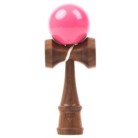Kendama USA - KROM Deluxe - Walnut and Rubberwood - Pink