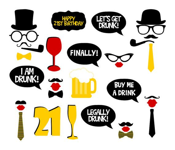 21st Birthday Party Printable Photo Booth by BCreativeDesignArts, $7.90