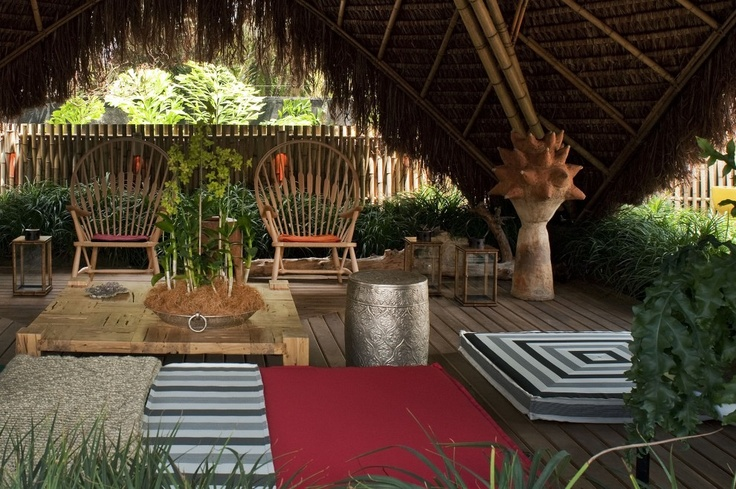 59 best images about bamboo homes and furnitures on pinterest for Nipa hut interior designs