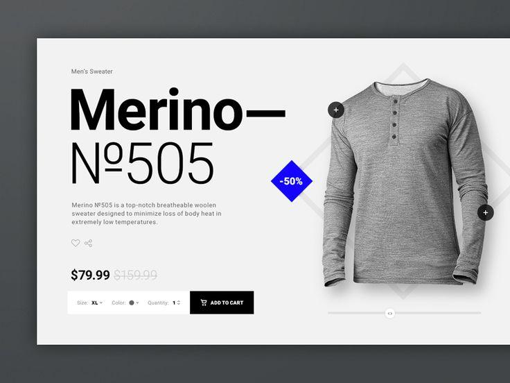 Merino №505 Product Page by Mykolas Puodžiūnas