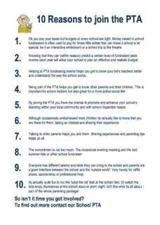 Parent Teacher Association - 10 Good Reasons to Join Your School's PTA