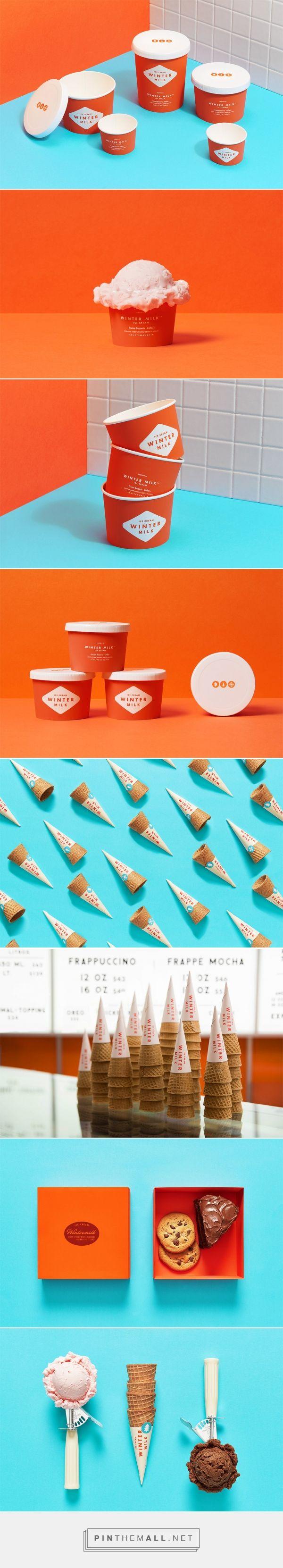 Winter Milk  | Ice Cream Shop design by Anagrama