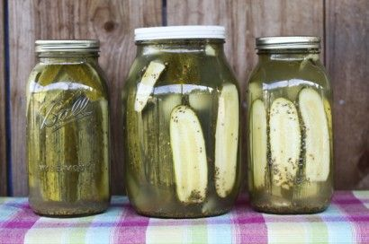 Homemade Claussen-style pickles...cause the stuff in the stores have lots of nasty stuff added to them!