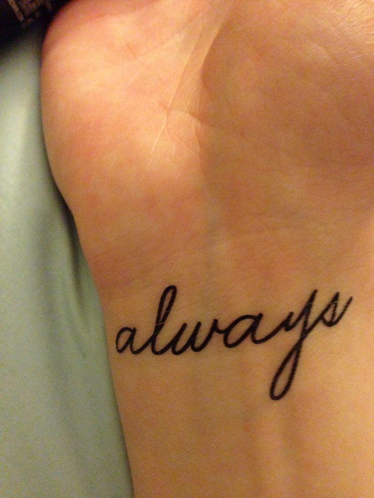 Tiny Tattoo Idea – Tattly tiny tattoo, always, wrist, Harry potter