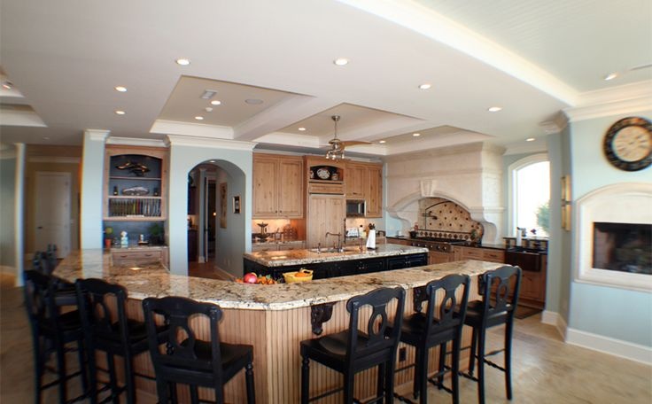 kitchen islands with alot of seating | large kitchen island ideas