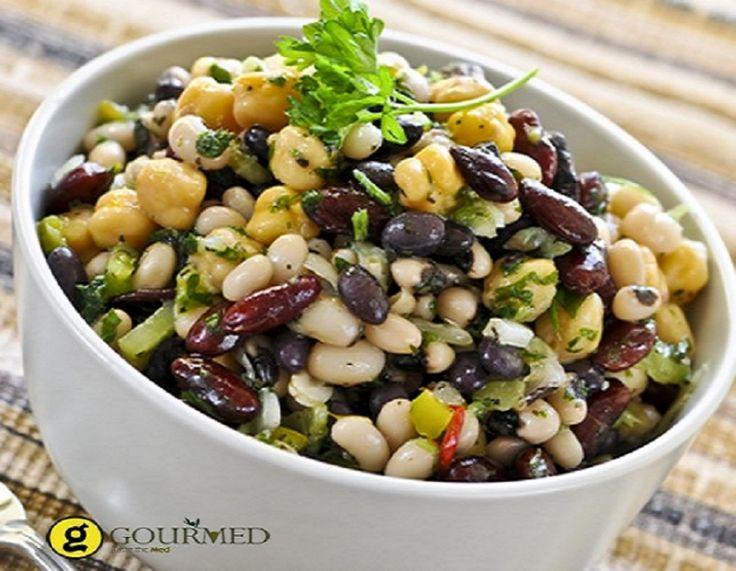 Ανάμεικτη σαλάτα με όσπρια - gourmed.gr