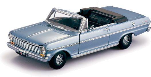 1963 Chevy Nova Convertible - Silver Blue (Sun Star) 1/18
