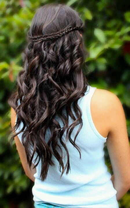 Down Long Wavy Winter Formal Spring Formal Etc Hair Ideas