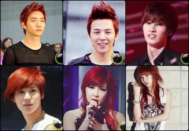 10 Selebritis Korea dengan Rambut Warna Merah