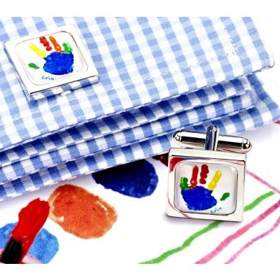 Personalised Childrens Art Cufflinks