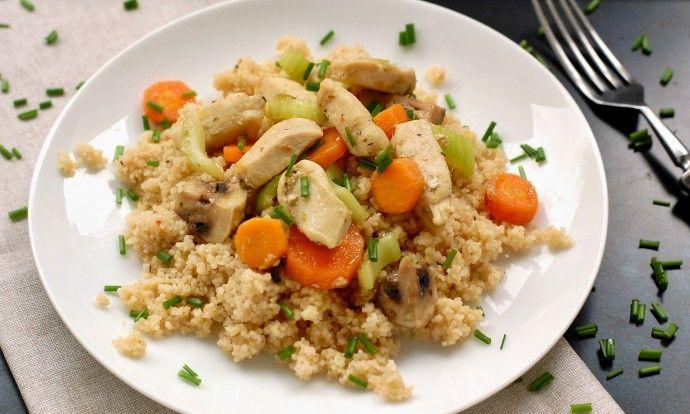 Kuřecí prsa se zeleninou a kuskusem