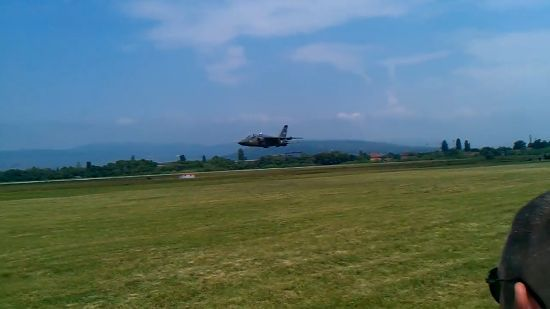 Serbian Jet Flies So Low It Could Cut The Grass