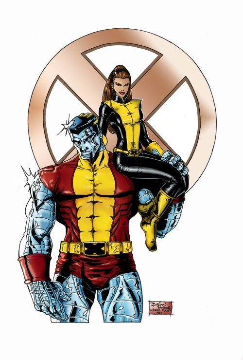 Colossus Kitty Pryde Colored Comic Art | Comix - Marvel ... |Shadowcat And Colossus Child