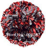 Черлидинг пом англичане 3/4  x 6  ~ пользовательский цвет металлик зебры черным по белому смешивается с красный металлик мини-заказ 10 шт.
