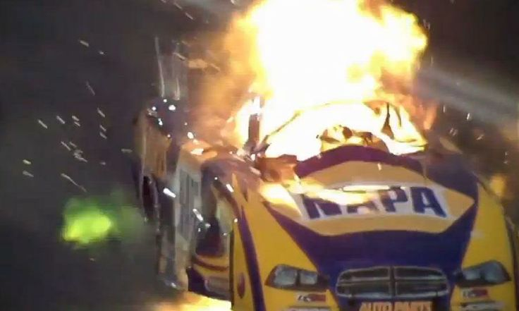 INCREDIBLE VIDEO: Ron Capps's NHRA Funny Car explodes at Pomona - Autoweek Racing NHRA news - Autoweek