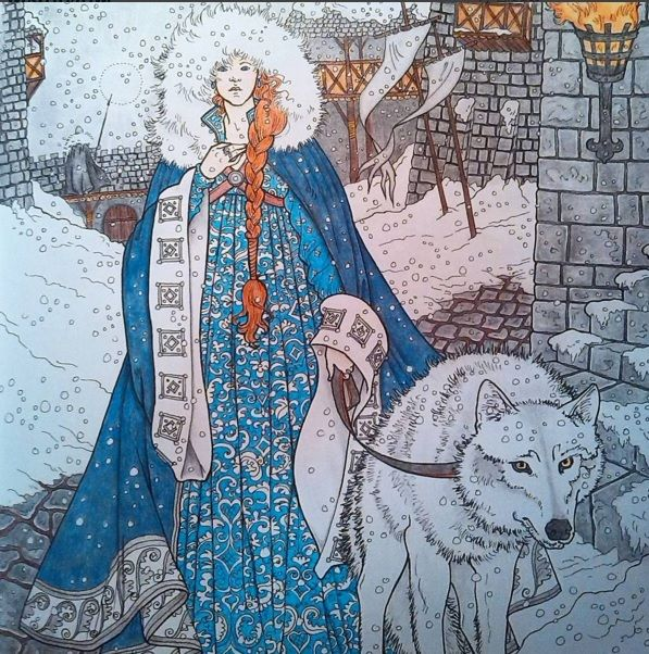 Oficial Coloring Book Game Of Thrones I Have An Official ALICE IN WONDERLAND Colouring