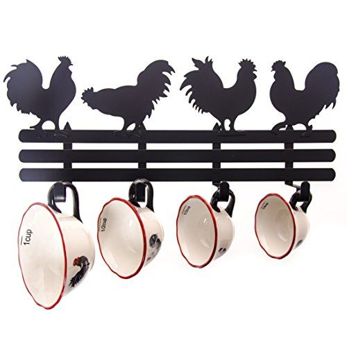 country rooster kitchen decor. Doubling down on the accessory theme  rooster measuring cups hooks Find this Pin and more Country Rooster Kitchen Decor 198 best images Pinterest