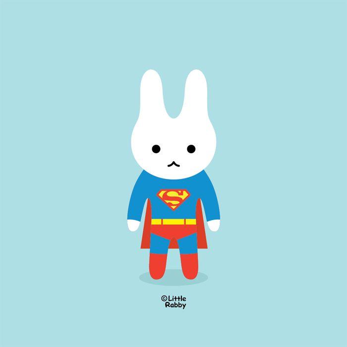 ⓒ Little Rabby / Superhero Superman / 2014 #littlerabby #illustration #superhero #superman