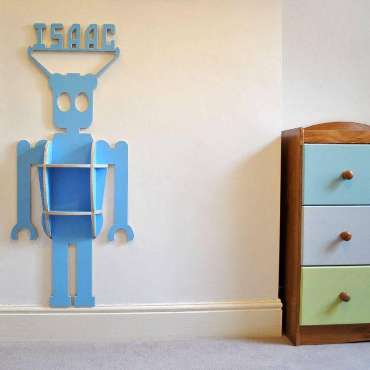 Personalised Child's Robot Shelfie
