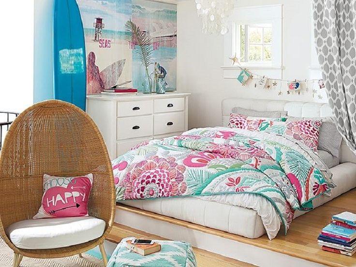 ropa de cama de colores muy fememninos