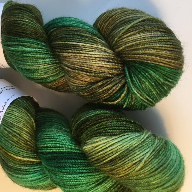 Greens  4ply Sock Wool/Nylon Yarn 100gms 400mtrs by hawthornecottage on Etsy