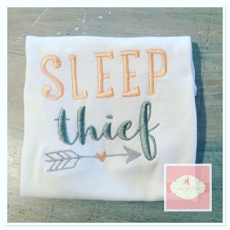 Embroidered sleep thief design