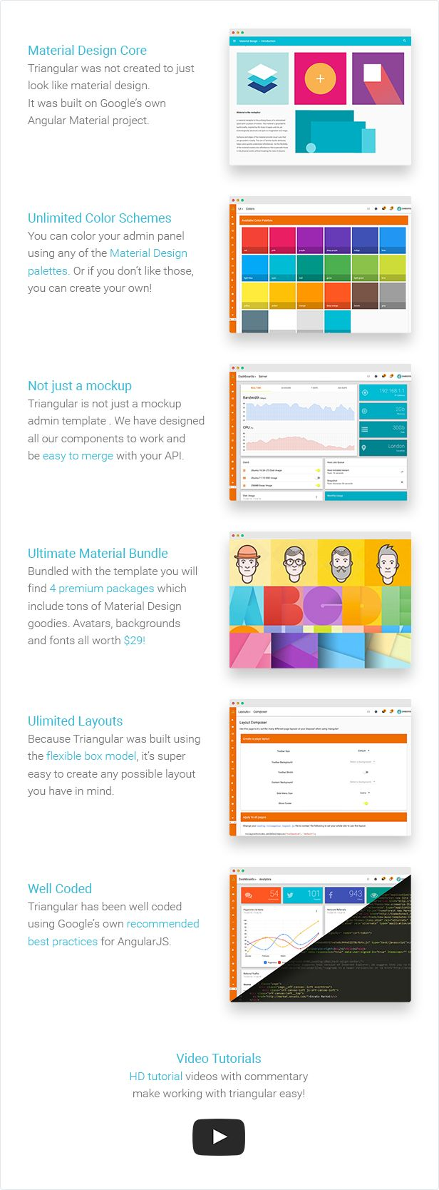 Lots of Material Design Features