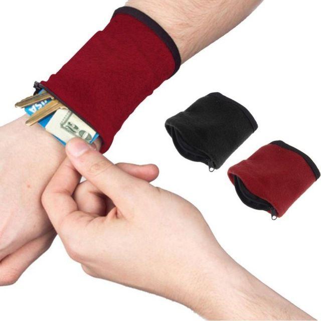 Zipper Fleece Wrist Wallet Pouch Arm Band Bag For MP3 Key Card Storage Bag Cas Arm Band Wrist Purse Bag 4 Colors