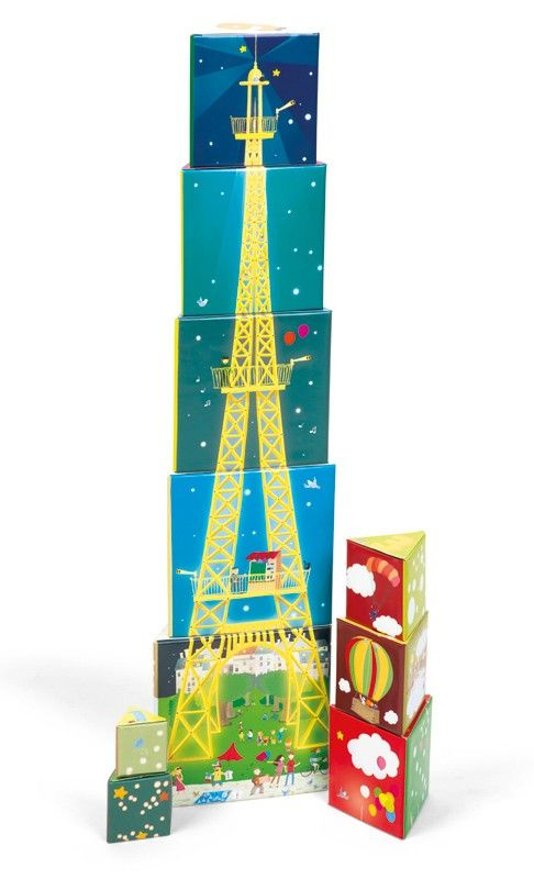 Paris Stacking Pyramid by Janod | Decor - Entropy Toys # ChristmasWishList I would love this for Christmas because it is of the Eiffel Tower...I love anything French