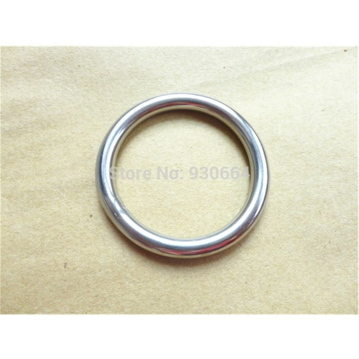 10PCS Stainless Steel  Rings Hardware  Round Buckles Round Ring Webbing Buckles Welded Inside Diameter 40mm P041