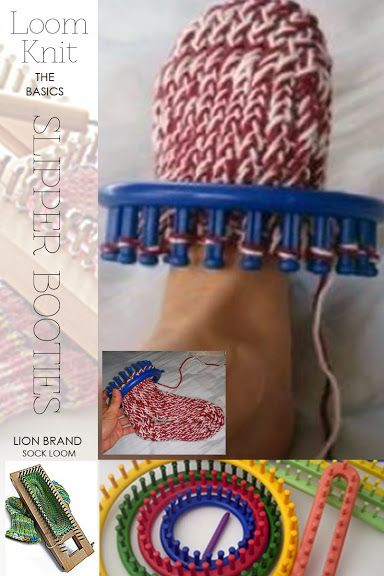 Loom knitting free sock tutorial and a link to a great site everything to do with loom knitting | DiaryofaCreativeFanatic