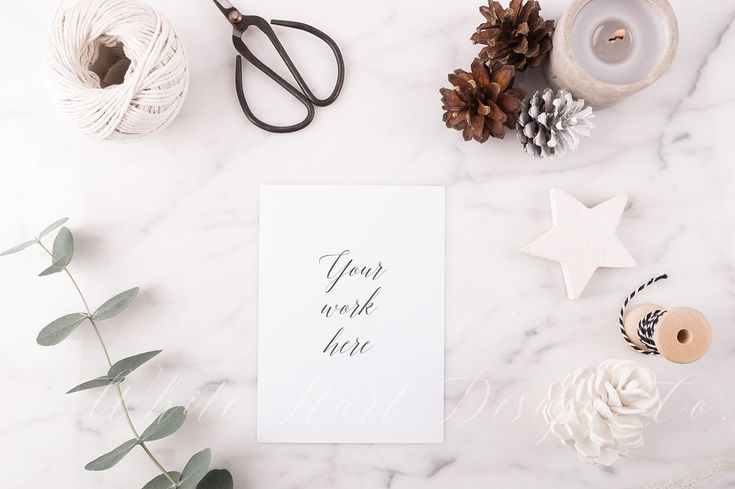 Christmas stationery mock up + Bonus by White Hart Design Co. on @creativemarket
