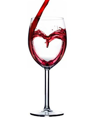 Catholic Teaching - The wine is converted into Jesus' blood which we choose to receive to honor Him.  I like this image because the pouring of the wine flows into a heart.  It's telling us that Jesus loves us and through that love we are prepared to receive His holy blood.