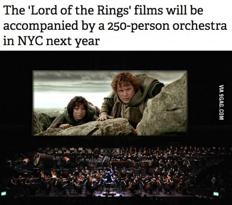 The 'Lord of the Rings' films will be accompanied by an orchestra!