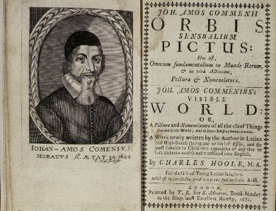 Jan Amos Komensky Orbis sensualium pictus 'The Visible World in Pictures'