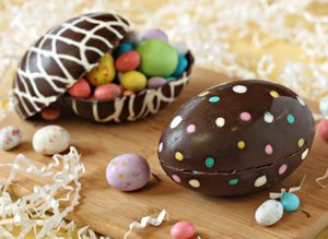 16 Decadent Easter Egg Candy Recipes: Hollow Chocolate Easter Egg