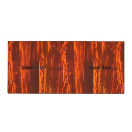 Stunning Red Sunrise Company Name Avery Signature Vinyl Binders