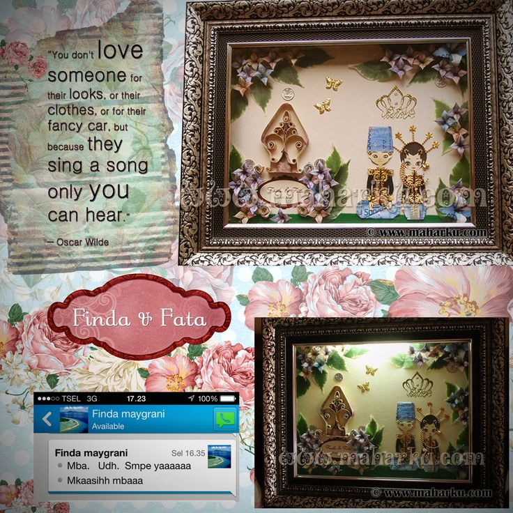 LOVE QUOTE: you don't love someone for their looks, or their clothes, or for their fancy car. But because they sing a song only you can hear. Hias Mahar Uang berbentuk Pengantin Jawa. Happy wedding !