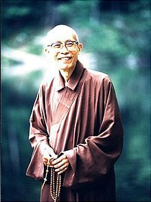 Zen master, Sheng-yen. 1930 - 2009 The founder of the Dharma Drum Mountain, a Buddhist education organization in Taiwan. One of the great leligeous leaders, whom is respected because of his dedication in to teaching Buddhism in Western societies. Also famous for his dialoge with the Dalai Lama 14th in 1998