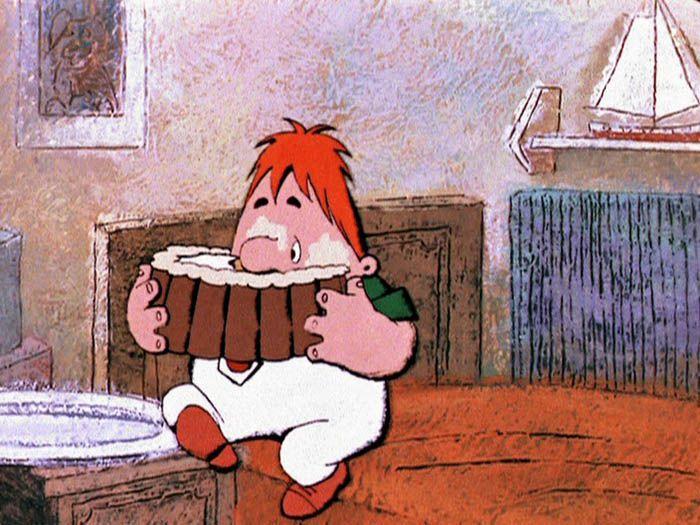 """кадр из мультфильма """"Малыш и Карлсон"""""""