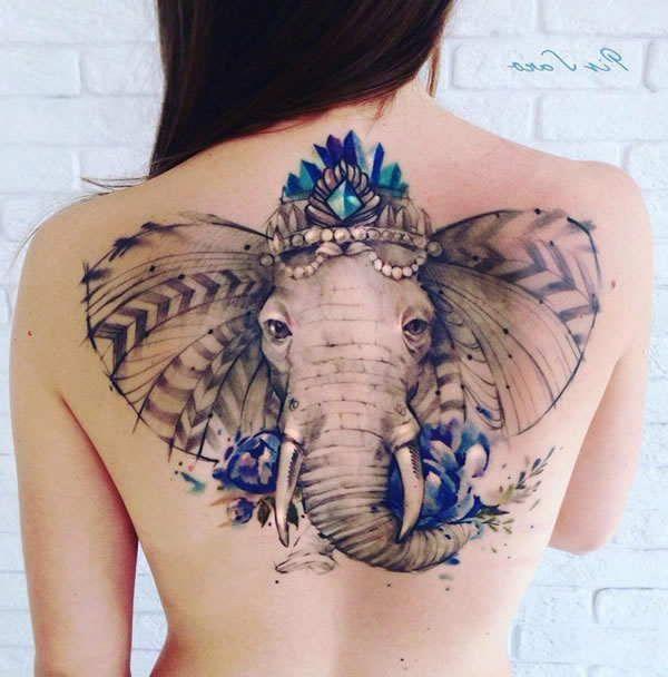 Tattoos On Back Tattoos Elephant Tattoos Elephant Tattoo