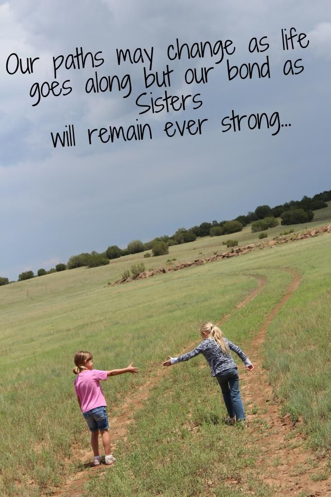 "Sisters Quote - Instead of using ""Quote"" wood boards to put in your home put the saying on a picture you love and print it... I made this a canvas print to hang in my girls room!"