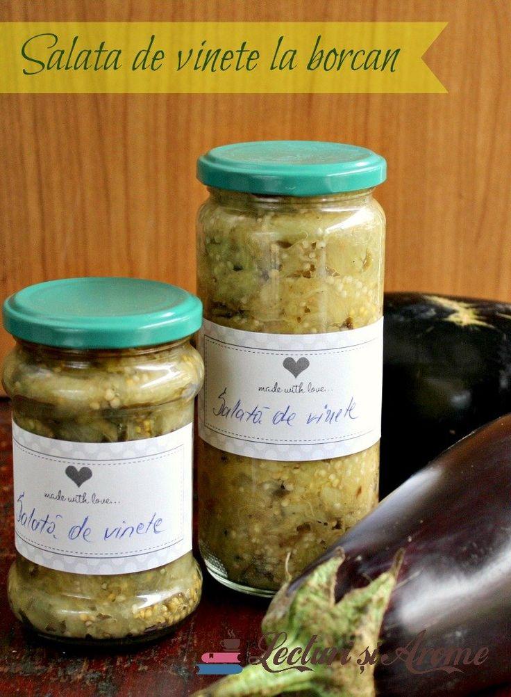 Romanian Cusine - Salata de vinete la borcan pentru iarna - Lecturi si Arome