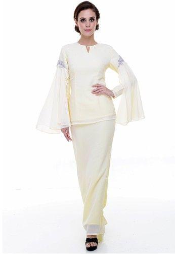 Vendy Kurung Modern from Rina Nichie Couture in yellow_1