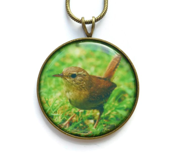 Wren Pendant Necklace, Bird Jewelry, Song Bird Pendant, Woodland Animal, Unique Gift, Christmas Jewelry Gift for Her, Nature Jewelry by Larryware on Etsy