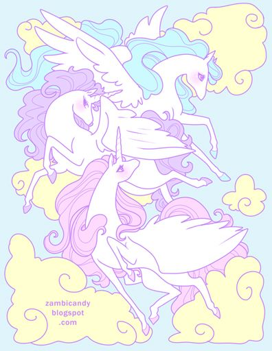Pegasus sky by Zambicandy (via anipan.com)