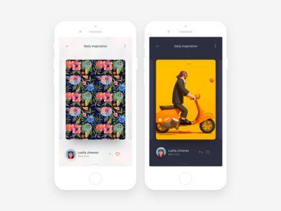 Daily Inspiration App Concept
