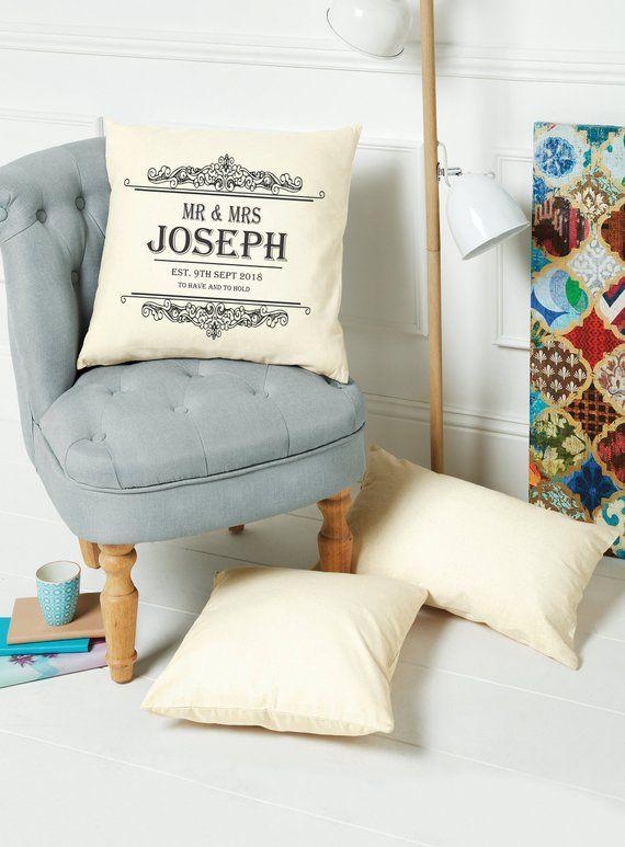 Personalised Wedding Cushion Couple Cushion Wedding Gift Etsy